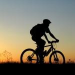 istock sunset bike rider