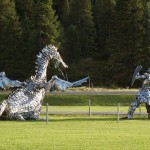 dragon+warrior sculptures-crested-butte-co