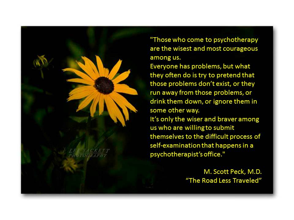 those who come to psychotherapy quote