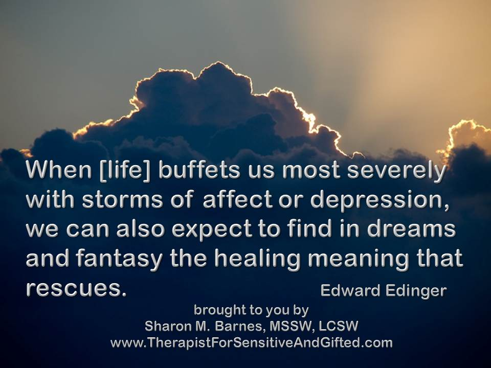 storms of affect and depression - healing meaning-edinger